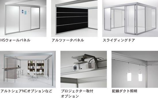 多彩なオプション、他製品シリーズとの部材共有化