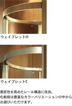 上:ウェイブレットM/下:ウェイブレットE