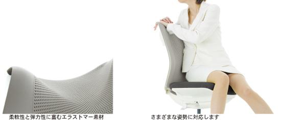 エラストマー素材がさまざまな姿勢に対応