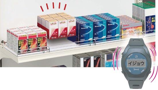 大量商品移動検知システム「センサーシェルフ」イメージ