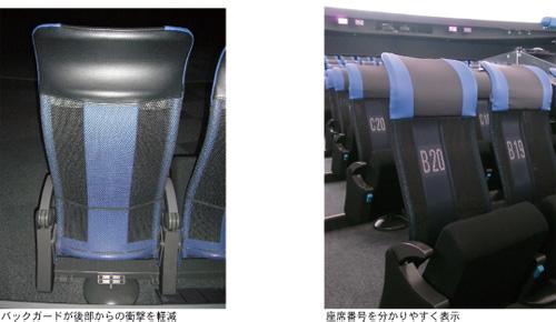 バックガードと座席番号表示